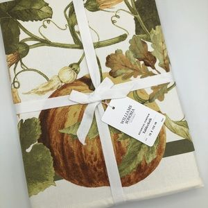 Williams Sonoma Pumpkin Botanical Tablecloth